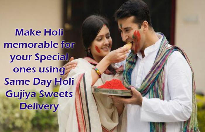 Make holi memorable for your special ones using same day Holi Gujiya sweets delivery