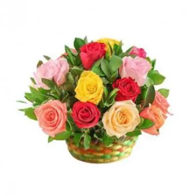 Mix Roses Basket