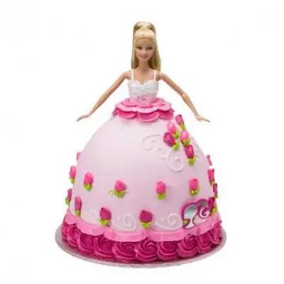 Barbie Doll Cake Chocolate Flavor