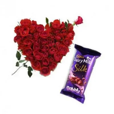 Roses Heart With Bubbly