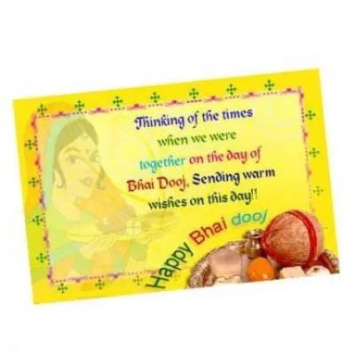 Send greeting cards to india online greeting cards delivery at best bhai dooj card m4hsunfo