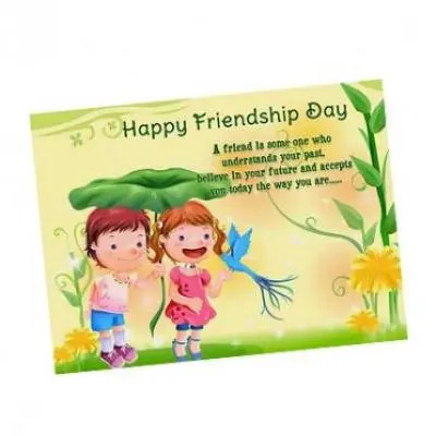 Send Friendship Day Greeting Cards to India, Online