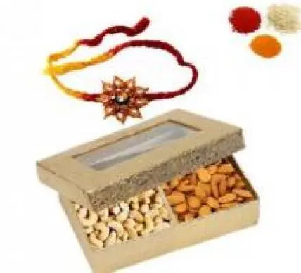Rakhi With Almonds & Cashew Dry Fruits
