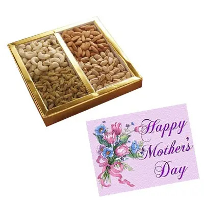 Mixed Dry Fruits Box with Mothers Day Card