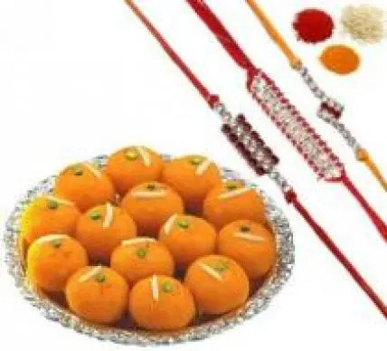 Rakhi Set with Motichoor Ladoo