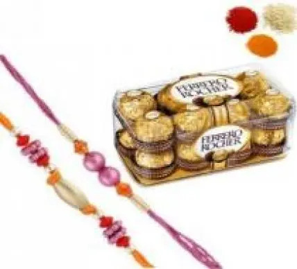 Ferrero Rocher with 2 Free Rakhi