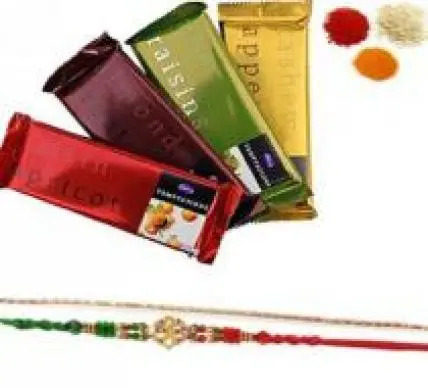 Rakhi Set with Cadbury Temptation Bar