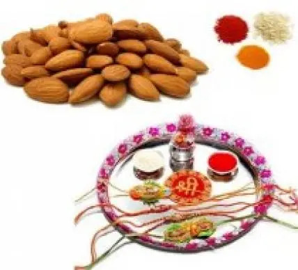 Rakhi Thali with Almonds