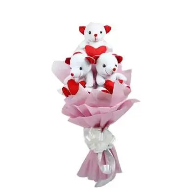 3 Teddy Bouquet