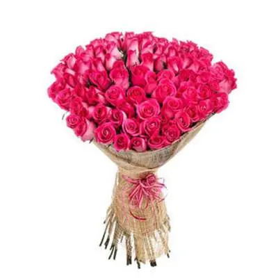 50 Pink Roses Bouquet
