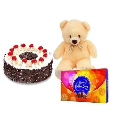 Cake, Chocolate With Teddy