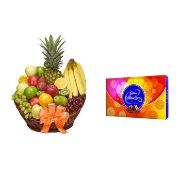 Fruit Basket with Celebration