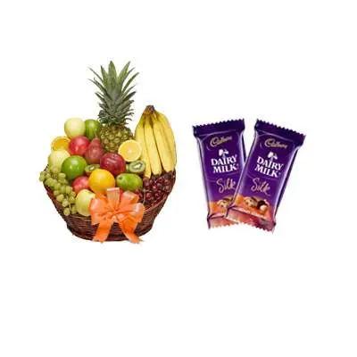Fruit Basket with Silk